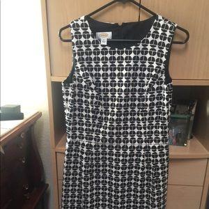 Talbots Black and white sleeveless dress w/coat